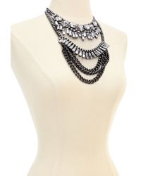 Forever 21 - Metallic Stackable Rhinestone Embellished Necklace - Lyst