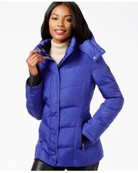 Calvin Klein | Purple Fleece-lined Quilted Active Coat | Lyst