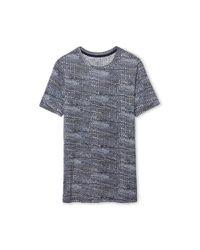Tory Burch - Blue Printed Cotton T-shirt - Lyst
