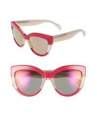 Marc By Marc Jacobs - Pink 53mm Cat Eye Sunglasses - Lyst