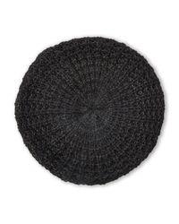 Steve Madden - Black Knit Glitter Beret - Lyst
