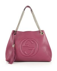 Gucci | Pink Soho Leather Shoulder Bag | Lyst