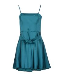 Flavio Castellani - Blue Short Dress - Lyst