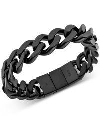 Emporio Armani | Men's Black-plated Stainless Steel Bracelet Egs2068 | Lyst