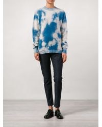 The Elder Statesman | Blue Tie-Dye Cashmere Sweater | Lyst