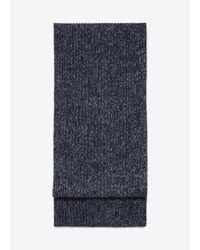 Vince | Blue Cashmere Marled Knit Scarf for Men | Lyst