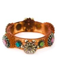 Jean Paul Gaultier | Orange 'mille Fiori' Cuff | Lyst