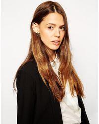 ASOS - Metallic Cuff Earrings Pack - Lyst