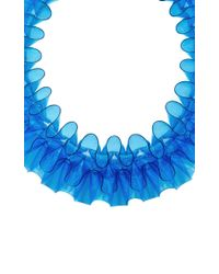 Mary Katrantzou - Blue Pvc Ruffle Collar Necklace - Lyst