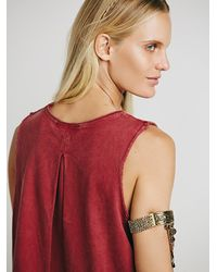 Free People | Red We The Free Womens We The Free Washed Bungalow Tank | Lyst