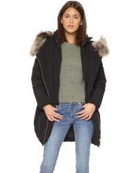 Woolrich | Black Luxury Arctic Down Parka With Fur-trimmed Hood - Brown | Lyst
