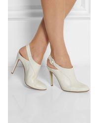 Altuzarra - White Leather Mules - Lyst