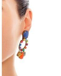 Erickson Beamon | White 'velocity' Crystal Drop Earrings | Lyst