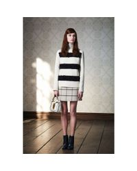 Tory Burch - Natural Check Miniskirt - Lyst