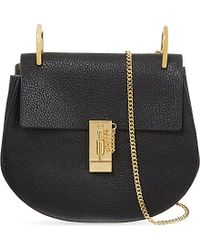 Chloé | Black Drew Small Leather Cross-body Bag | Lyst