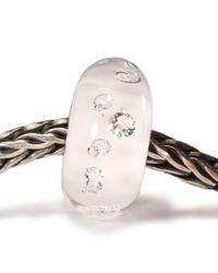 Trollbeads - White Diamond Bead Glass Charm Bead - Lyst