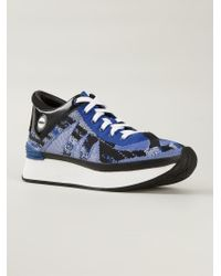 KENZO - Blue 'White Noise' Sneakers - Lyst