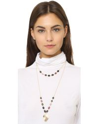 Heather Hawkins - Metallic Layered Lotus Necklace - Multi Tourmaline - Lyst