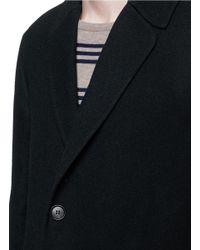 Covert | Blue Wool Coat for Men | Lyst