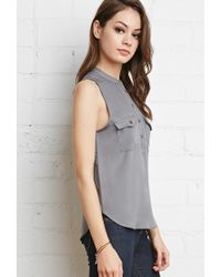 Forever 21 | Gray Buttoned Pocket Shirt You've Been Added To The Waitlist | Lyst