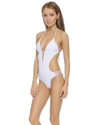 Tori Praver Swimwear - White Sienna One Piece - Cloud - Lyst
