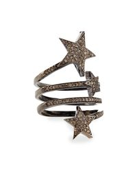 Siena Jewelry - Metallic Triple Star Diamond Ring - Lyst