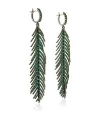 Sidney Garber | Green Feathers That Move Earrings | Lyst