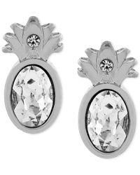 BCBGeneration   Metallic Gold-tone Pineapple Stud Earrings   Lyst