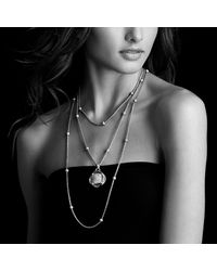 David Yurman - Metallic Chain Necklace With Diamond Beads - Lyst