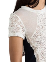 Sjobeck - White Sweater Laced Tee - Lyst