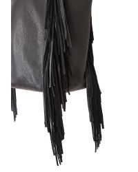 Velvet By Graham & Spencer - Black Toto Fringed Suede Tote - Lyst