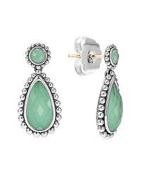 Lagos | Green 'maya' Teardrop Earrings | Lyst