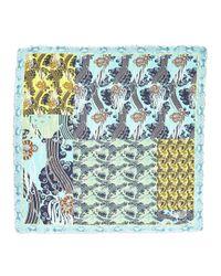 Roberto Cavalli - Blue Square Multipattern Shawl - Lyst