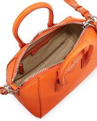 Givenchy - Orange Antigona Mini Goatskin Satchel Bag - Lyst