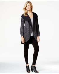 Kensie | Black Long-sleeve Cocoon Cardigan | Lyst