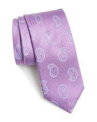 John W. Nordstrom - Purple 'evans' Paisley Silk Tie for Men - Lyst