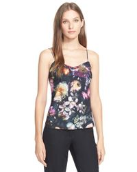 Ted Baker | Gray 'cynaria' Floral Print Camisole | Lyst