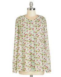 Downeast Basics - Green Loveliness In Bloom Top - Lyst