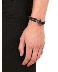 Alexander McQueen | Black Wraparound Woven-leather Bracelet for Men | Lyst