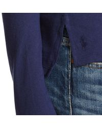Polo Ralph Lauren | Blue Drapey Long-sleeved Tee | Lyst