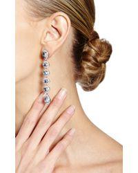 Dana Rebecca - Blue Moonstone and Diamond Earrings in White Gold - Lyst