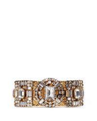 Erickson Beamon - Metallic 'temptress' Square Crystal Bracelet - Lyst