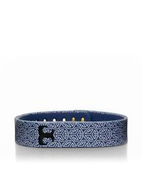 Tory Burch | Blue For Fitbit Silicone Printed Bracelet | Lyst