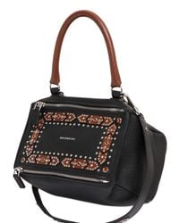 Givenchy | Black Small Pandora Studded Leather Bag | Lyst