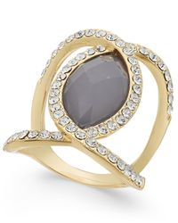 INC International Concepts | Metallic Gold-tone Oval Ring, Only At Macy's | Lyst