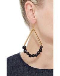 Marni | Black Dangling Horn And Metal Earrings | Lyst