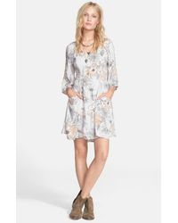 Free People | Gray 'Eyes On You' Trapeze Dress | Lyst