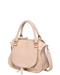 Chloé - Natural Marcie Grained Leather Top Handle Bag - Lyst