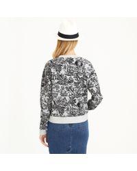 J.Crew - Gray Toile Sweatshirt - Lyst