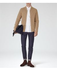 Reiss - Natural Highway Ribbed Cardigan for Men - Lyst